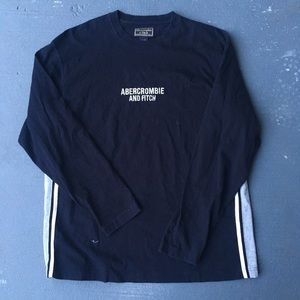 Black Abercrombie long sleeve shirt